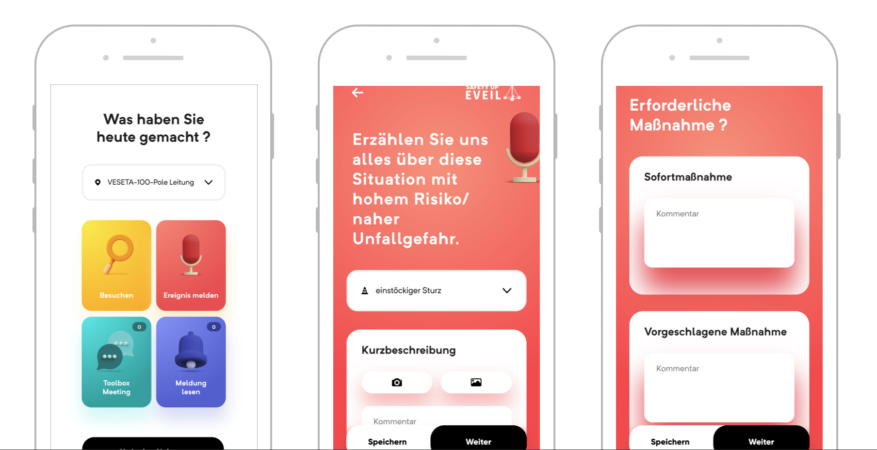 ETAVIS App Ansicht VINCI Safety UP