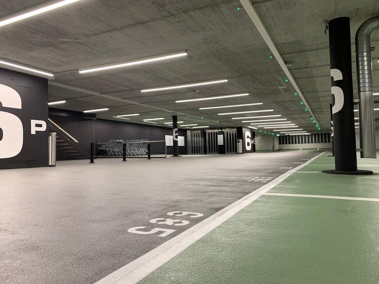 """Die ETAVIS ist an der Instandsetzung des Parkdecks der """"Sihlcity"""" Zürich beteiligt"""
