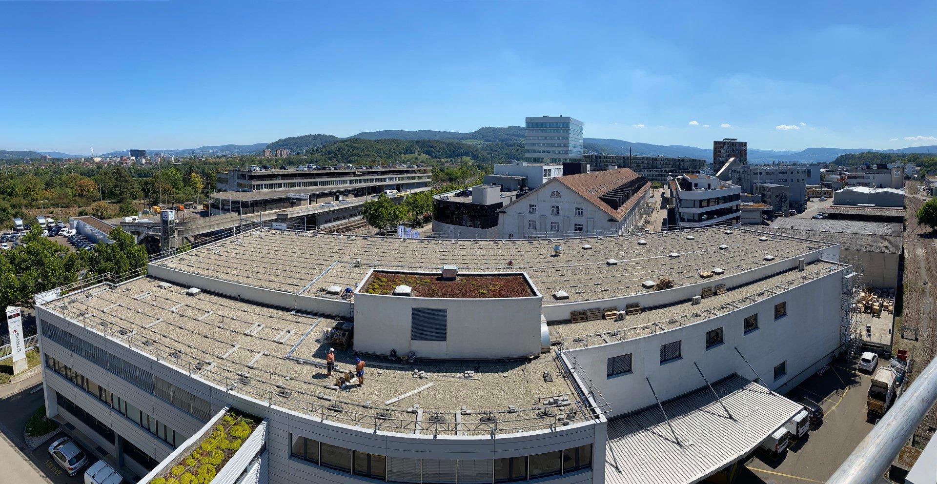 Panoramaaufnahme vom Zwischenstand Ende August