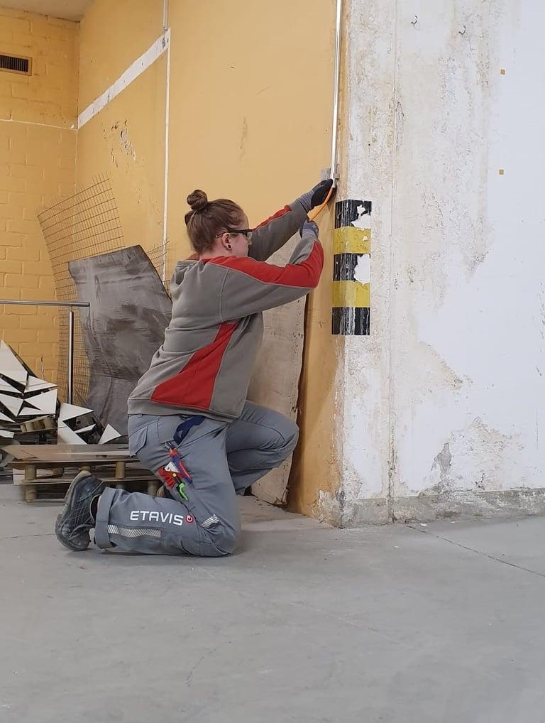Michelle Fellmann bei der Arbeit