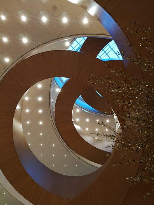 Die ETAVIS war zuständig für die gesamte Beleuchtungsinstallation des Maison Olympique