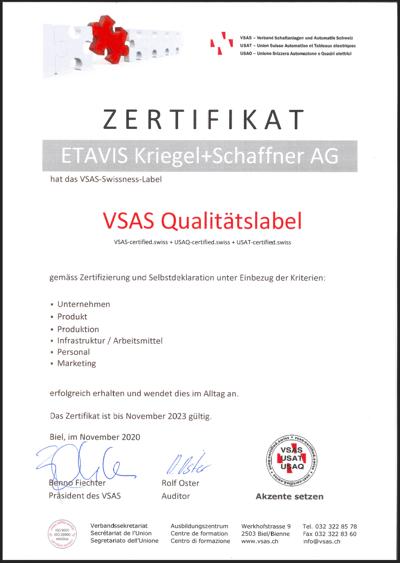 VSAS Qualitätslabel_Thumbnail
