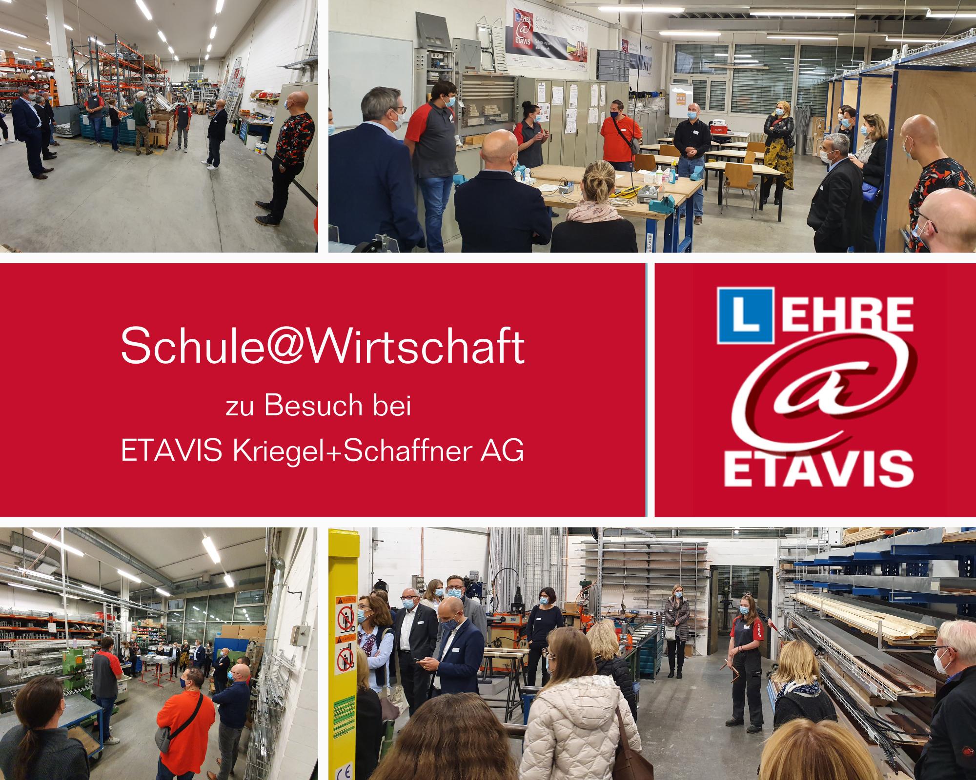 Schule@Wirtschaft bei ETAVIS Kriegel+Schaffner AG: Karriere mit Lehre