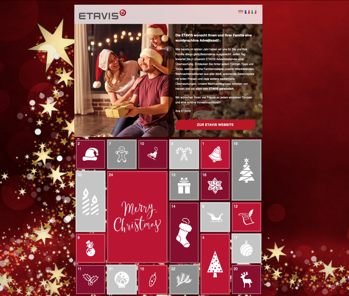 ETAVIS Adventskalender 2020: Lassen Sie sich täglich von uns überraschen