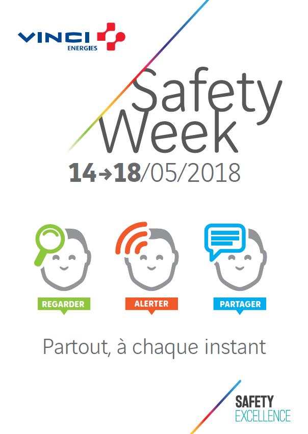 Regarder, alerter, partager - la semaine de la sécurité Safety Week 2018