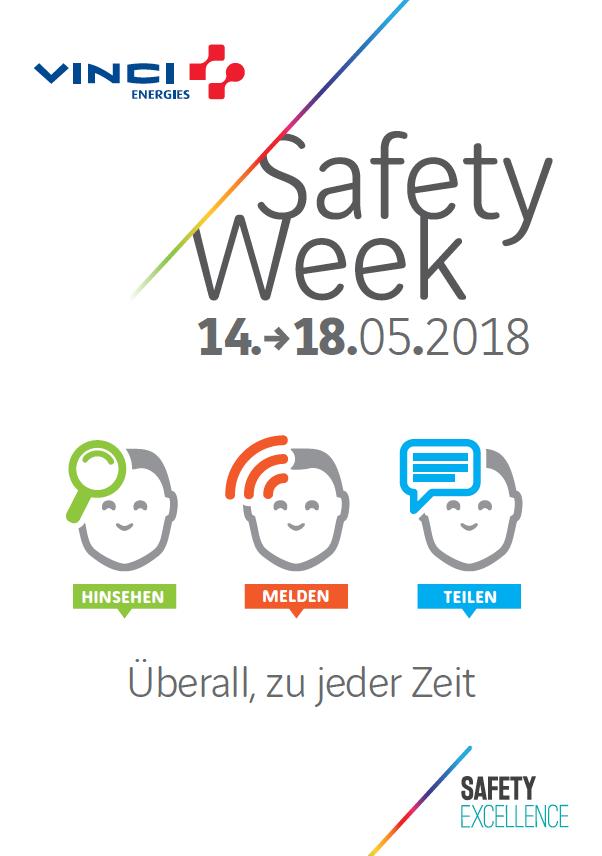 Hinsehen, Melden, Teilen - die Safety Week 2018