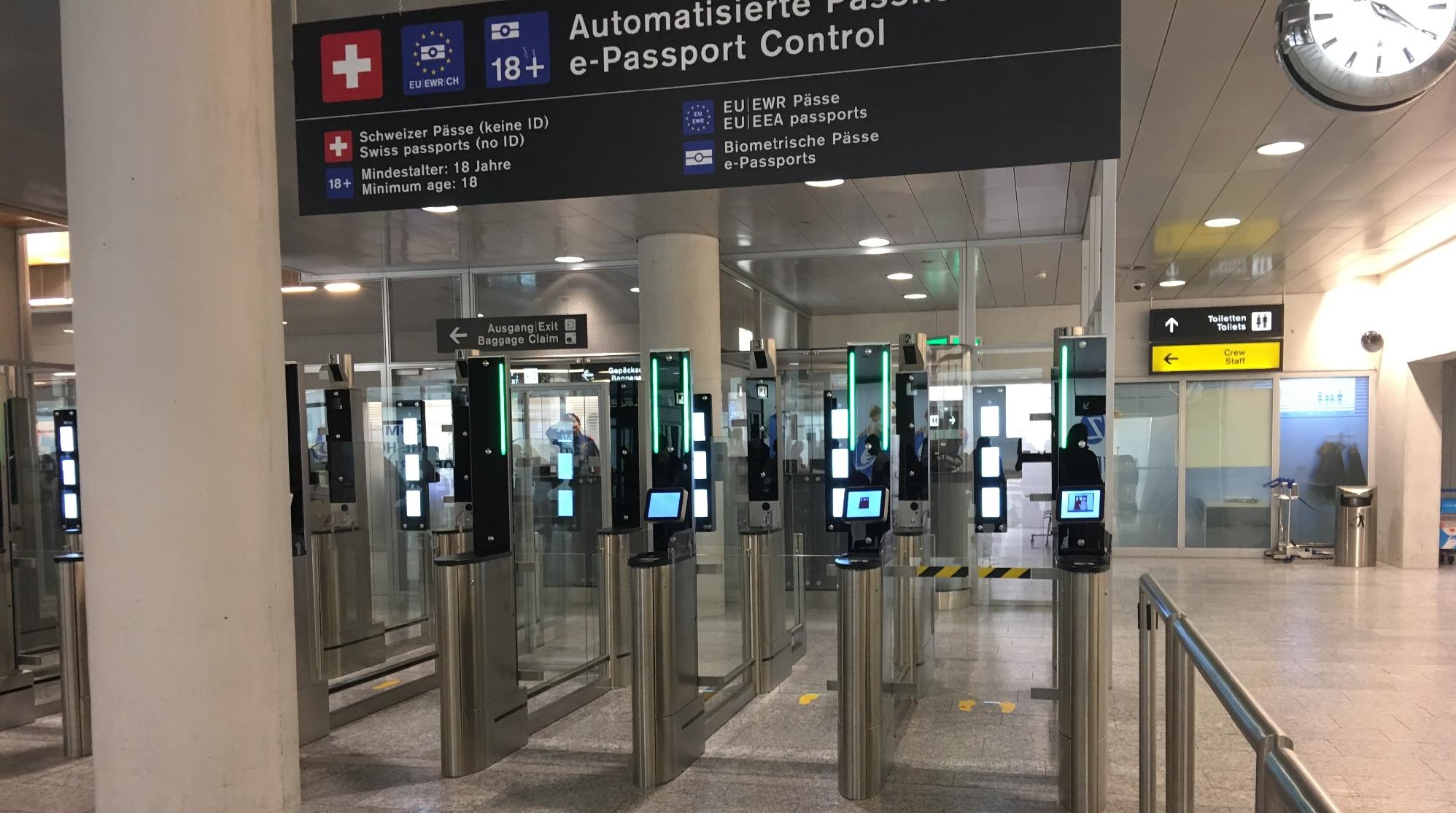 Effizientere Grenzkontrolle am Flughafen Zürich