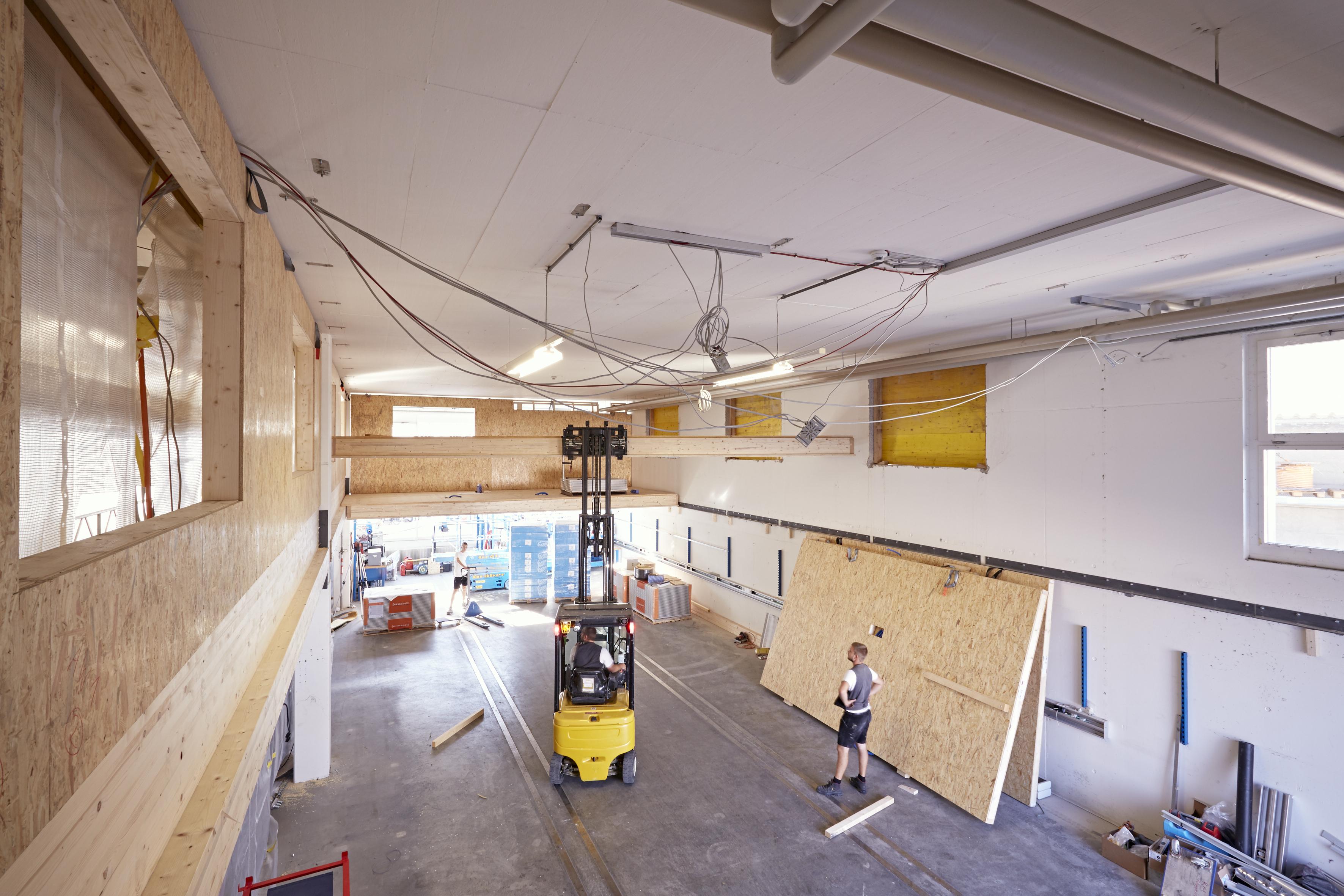 Unser Projekt nimmt Formen an – Die Umstrukturierung der BU 063 ist in vollem Gange.